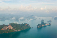 Aerial view of islands near Phuket, Thailand Stock Photo