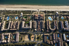 Aerial view of the Islantilla beach. In Huelva, Andalusia, Spain Stock Image