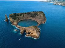 Aerial view of the Islet of Vila Franca do Campo, Azores islands