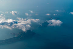Aerial View of Islets in the South China Sea Royalty Free Stock Image
