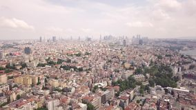Aerial view of Istanbul. City. Skyscrapers on background stock footage