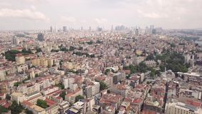 Aerial view of Istanbul. City. Skyscrapers on background stock video