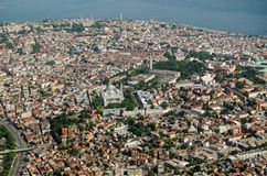 Aerial view of Istanbul Old City Stock Photography