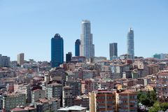 Aerial view of Istanbul. Old and modern building in Istanbul Royalty Free Stock Image