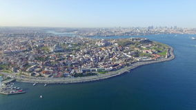 Aerial view of Istanbul, Turkey stock footage
