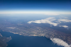 Aerial view of Italy Stock Photo