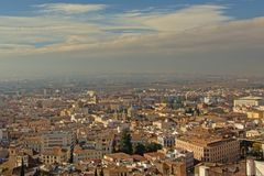 Aerial view on the ity of Granada, Andalusia, Spain. Aerial view on the cityof Granada, Andalusia, Spain, with the cathedral and many apartment buildings stock images