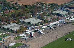 Aerial view of IWM Duxford Royalty Free Stock Photo