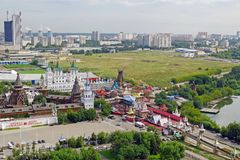 Aerial view of Izmailovo Kremlin in Moscow, Russia. Royalty Free Stock Image