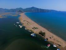 Aerial view of Iztuzu Beach, Dalyan, Turkey Stock Photos