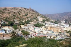 Aerial view of jaipur city from amber palace