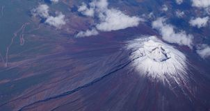 Aerial view of Japan's Mount Fuji volcano Royalty Free Stock Photo