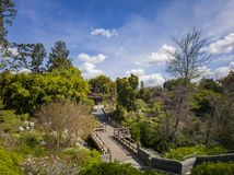 Aerial view of Japanese style building in Huntington Library. At Los Angeles, California royalty free stock images