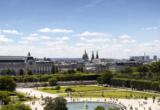 Aerial view of Jardin des Tuileries Royalty Free Stock Photography