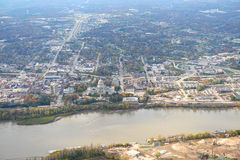Aerial View of Jefferson City Missouri Royalty Free Stock Photo
