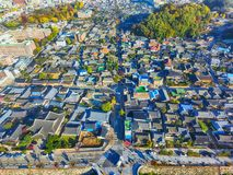 Aerial View of Jeonju Hanok Village Traditional Korean Town, Jeonju, Jeollabukdo, South Korea royalty free stock photos