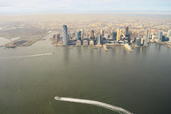 Aerial view of Jersey City. Stock Photos