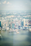 Aerial view on Jersey City Royalty Free Stock Image
