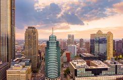 Aerial view of Jersey City royalty free stock photo