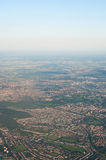 Aerial View from Jet Aircraft Royalty Free Stock Images