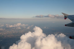 Aerial View from Jet Aircraft royalty free stock photos