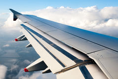 Aerial View from Jet Aircraft Royalty Free Stock Image