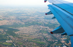 Aerial View from Jet Aircraft royalty free stock photography