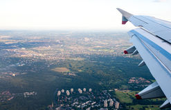 Aerial View from Jet Aircraft Stock Images