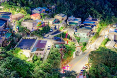 Aerial view of Jiufen townhouses Royalty Free Stock Photography