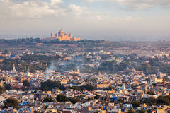 Aerial view of Jodhpur - the blue city. Rajasthan Royalty Free Stock Photo