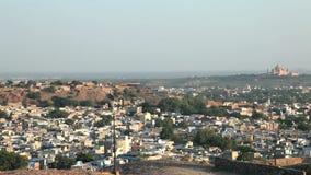 Aerial view of Jodhpur, India stock video