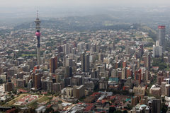 Aerial view of Johannesburg Stock Photos