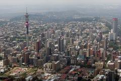 Aerial view of Johannesburg stock photos
