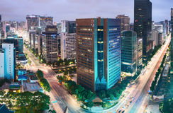 Aerial view of Jongno-Gu district in the heart of Seoul city Stock Photos