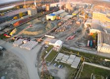 Aerial view on JSC Tyumennerud plant. Russia Stock Photos