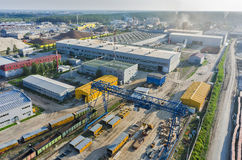 Aerial view on JSC Tyumenstalmost plant. Russia Stock Images
