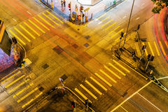 Aerial view of a junction in Hong Kong Royalty Free Stock Image