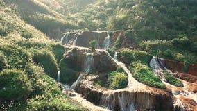 Golden Waterfall in Jiufen, Taiwan.