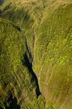 Aerial view of Kahiwa falls Stock Images
