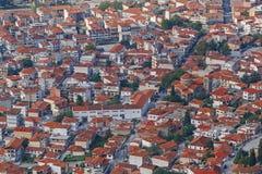 Aerial view on Kalabaka town Stock Photos