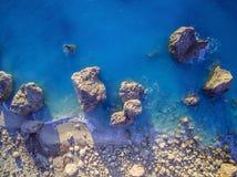 Aerial view of Kalamitsi beach Lefkada island, Greece. royalty free stock images