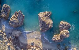 Aerial view of Kalamitsi beach Lefkada island, Greece. stock photos