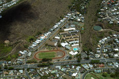 Aerial view of Kalani High School and Surrounding Area Royalty Free Stock Photo