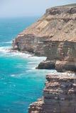 Aerial View Kalbarri Cliff Coast Stock Images