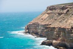 Aerial View Kalbarri Cliff Coast Royalty Free Stock Photos