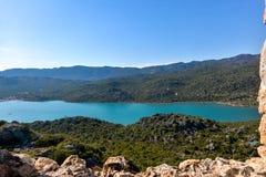 Aerial view at Kalekoy village Stock Images