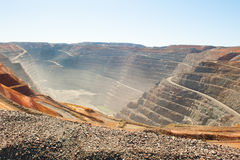 Aerial view Kalgoorlie Super Pit open cut Gold Mine royalty free stock photography
