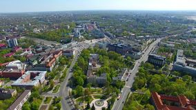 Aerial view of Kaliningrad stock footage