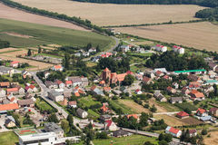 Aerial view of the Kalkow village near Nysa city Stock Image