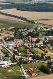 Aerial view of the Kalkow village near Nysa city Royalty Free Stock Photography